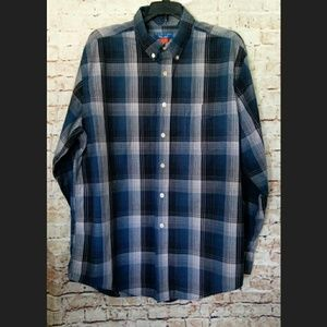 Puritan Long Sleeve Button Down Shirt Size L